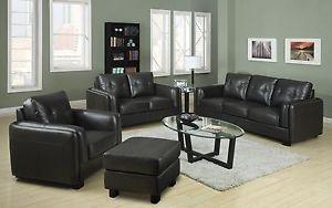 Coaster Furniture Sawyer Gray Leather Sofa Loveseat Living Room Set 504461