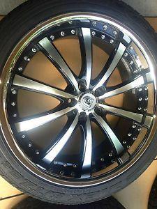 "Lexani 22 inch Wheels Tires Rims Land Rover LR2 22"" asanti Forgiato Sensors"