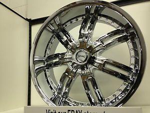 "24 inch Chrome Stonz Wheels Rims GMC Sierra Yukon Denali XL 6 Lug 6x5 5 24"""