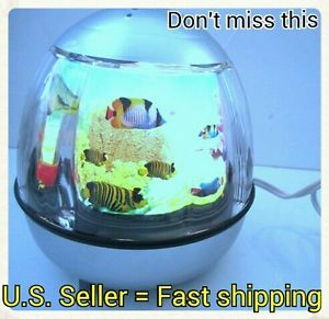 Fish Aquarium Motion Night Light Lamp Small Size Great for Kids Office