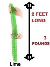 Worlds Largest Gummy Worm Giant 3 Pounds 24 inches 2 Feet Long Lime