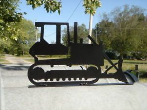 Bull Dozer Case John Deere Cat Mailbox Wood Post Art