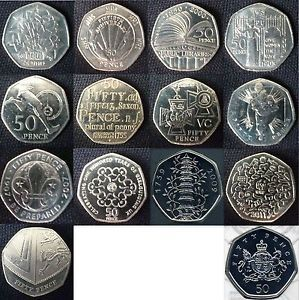 RARE GB 50p Commemoratives 50 Pence Coins Largest Selection on