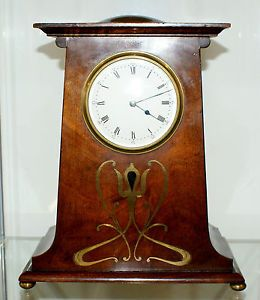 Arts Crafts Aesthetic Movement Mantel Clock Working Order