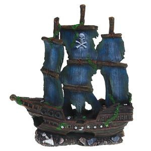 Pirate Ship Fish Tank Decoration Aquarium Ornament