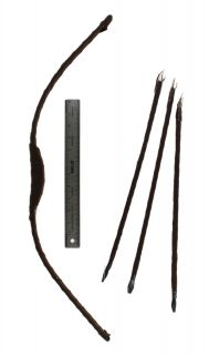 """Small 27"""" Bow and Arrow Set Robin Hood Katniss American Indian Costume Prop"""