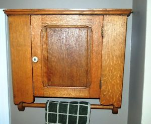 Antique Oak Medicine or Spice Cabinet