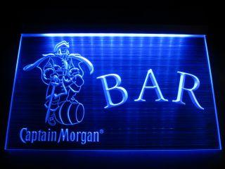 HW0608 Captain Morgan Open Logo Beer Bar Pub Store Hairline LED Light Sign Neon