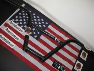 Hitman BMX Bikes Old School 4pc Handlebars USA So Cal Made Flt Black 8x28 10B 2U