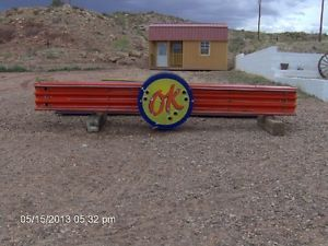 """Chevrolet OK Used Car Porcelain Neon Sign 90 Foot Long and 2 36"""" Round Signs"""