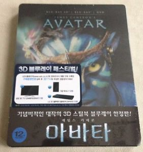 Avatar 2D 3D Blu Ray Steelbook Korea Exclusive Limited to 300 RARE