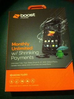 Kyocera Hydro Prepaid Android Smartphone Boost Mobile 2GB Black New SEALED 067215021565