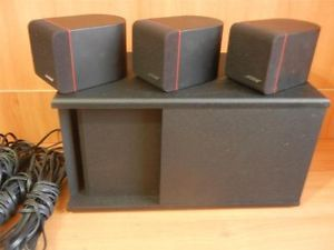 Bose Acoustimass 4 Home Theater Speaker System 3 Speakers and 1 Large Control