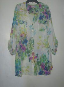 Dress Barn Summer Bouquet Top 2X