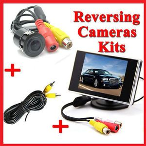 """3 5"""" LCD Screen Monitor Car Rear View Reversing Camera Security Parking System"""