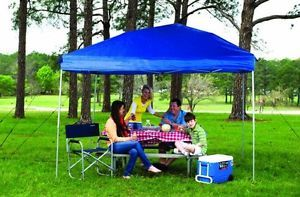 Fast Set 10' x 10' EZ Instant Straight Wall Pop Up Outdoor Canopy Tent Shelter