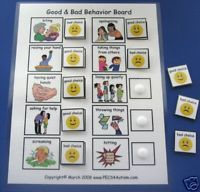 Good Bad Behavior Interactive Board ABA Autism Pecs
