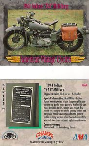 American Vintage 1941 Indian 741 Military Motorcycle 30 5 CU in 2 Cylinder Eng