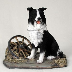 Border Collie Statue Figurine Home Yard Garden Decor Dog Products Dog Gifts