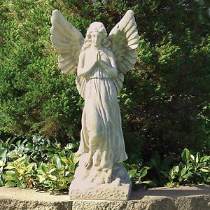 "Sculptural Gardens 23"" Guardian Angel Outdoor Sculpture Statue Garden Decor New"