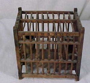 Antique Pennsylvania Coal Miners Mining Canary Bird Cage