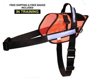 X Large Light Service Dog Walking Harness Pulling Harness Mesh w Free Badge