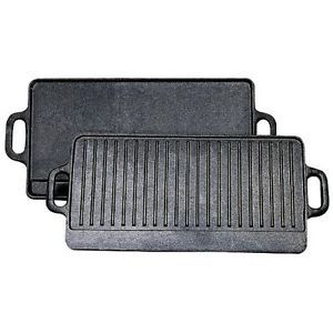 Stansport Cast Iron Griddle Grill Outdoor Camping Countertop Burner Stove Range