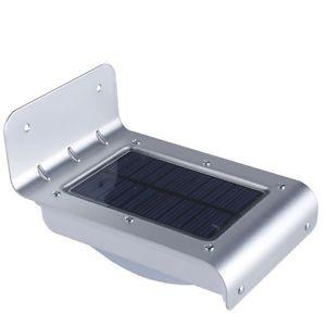 16 LED Solar Power Sound Sensor Detector Outdoor Security Light Lamp Waterproof