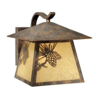 New 1 Light MD Rustic Pine Cone Outdoor Wall Lamp Lighting Fixture Bronze