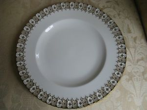 Royal Crown Derby Heraldic Gold White Dinner Plate England Numbered