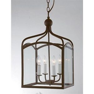Large 6 Light Chandelier Lantern Style Pendant Foyer Light Fixture New