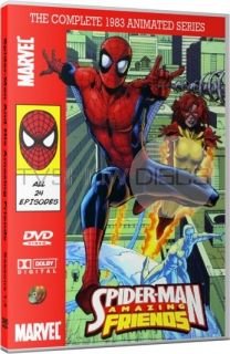Spider Man and His Amazing Friends 1983 Animated Series DVD Set