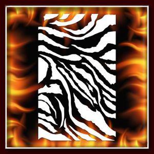 Zebra Stripe 2 Airbrush Stencil Template Harley Paint