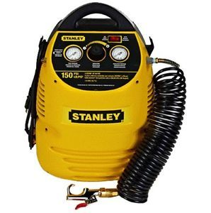 Brand New Stanley 1 5 Gallon 150 PSI Portable Air Compressor w 18pc Kit Set