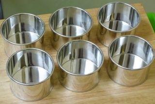 6 x New Professional Round Aluminium Mini Small Bake Cake Tin Pan 85mm x 55mm