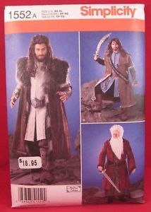 New Simplicity 1552 Mens Medieval Costume Sewing Pattern Size A XS XL Uncut