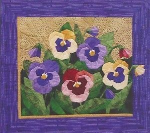 Pansy Spring Flower Quilt Foundation Pieced Pattern New