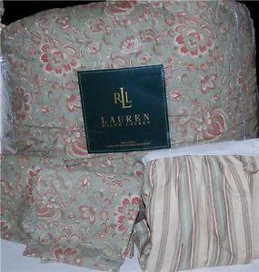 Ralph Lauren Hadley Green Paisley Queen Comforter Set New 1st Quality