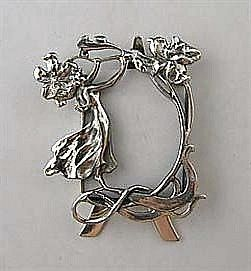 Solid Sterling Silver Lady Picture Frame