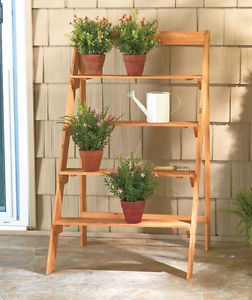 Vintage 3 tier folding metal wire plant stand - Tiered wooden plant stands outdoor ...