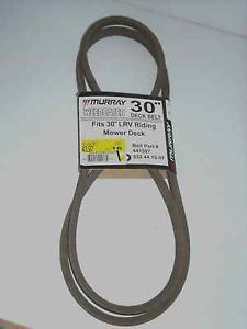 "New Murray 30"" Deck Belt Belt Part 441597 Fits 30"" L V R Riding Mower Deck"