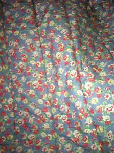 Vintage Ralph Lauren Hope Floral Rose Shabby Chic Full Queen Comforter Bedding