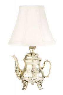 Mini Silver Teapot Lamp Night Light Set 2