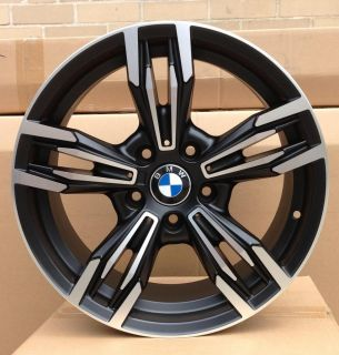 "19"" Rims 2013 M6 Style Black Machine Face Wheels Fits BMW E36 E46 E90 E92 E93 M3"