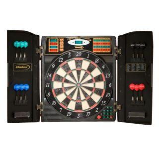 Halex Bristletech Steel Soft Tip Electronic Dart Board with Cabinet