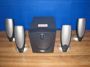 Altec Lansing ADA745 Speaker System 4 1 Powered Subwoofer for iPod PC or Laptop