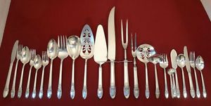 1847 Rogers Bros Silver Plate First Love Silverware Flatware Grill Pieces Choice