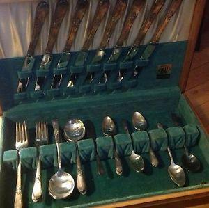 Vintage 1847 Rogers Bros Silver Ware Set Silverware and