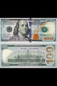 Brand New RARE Serial Number 100 Dollar Bill Uncirculated Highly Collectible