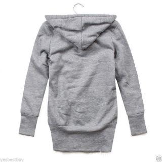 New Korea Style Women's Lady Long Sleeve Sweater Hoodie Jacket Coat Warm Outwear
